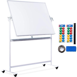 Mobile Whiteboard 48x36 Large Rolling Whiteboard Planner With Stand On Wheels