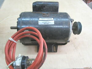 Craftsman Pwr Tool Elec Motor Mod 113 12200 1hp 115 230v 3450 Rpm tested