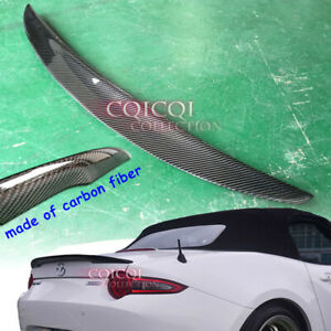 Carbon Fiber Mazda 15 19 Mx5 Mx 5 Miata Roadster Convertible Nd Trunk Spoiler