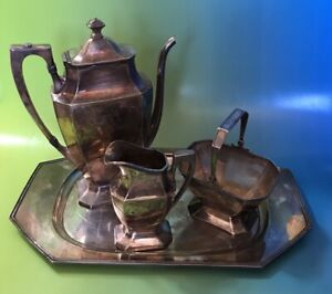 Derby S P Co International 1686 W M Mounts Coffee Tea Set