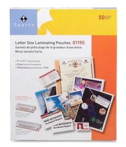 Letter Size Laminating Pouches 9 X 11 1 2 Inches 3 Mil 100 Pk Clear