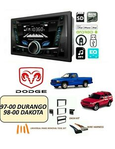 Dodge 1997 2000 Durango 1998 2000 Dakota Stereo Kit Bluetooth Cd usb aux fm