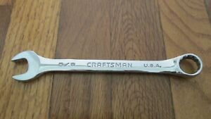 Craftsman Tools 5 8 Sae Professional Standard Combo Wrench 12 Pt Usa 44944