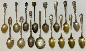 Antique Vintage Sterling Silver Small Spoons Mixed Lot 164 Grams