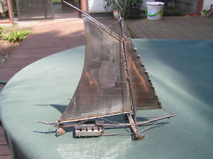 Old Chinese Sterling Silver Ice Yacht Model 7 China