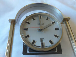 Vintage Antique Clock And Datekienzleweight 595 Made En Germany