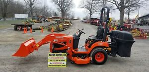 2016 Kubota Bx2370 Compact Loader Tractor W mower And Bagger Only 2 Hours