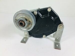 Vintage Jack Heintz Electric Motor Speed Reduction Gear Box Pulley Drive