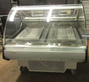 Hill Phoenix 49 Curved Glass Refrigerated Deli Meat Fish Case