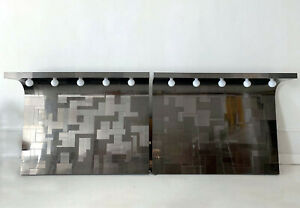 A Pair Of Cityscape Headboard With Lights Paul Evans For Directional