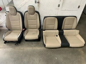 2010 2015 Chevrolet Camaro Ss Leather Seats Front Rear Coupe Black cream Gm oem