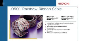 Rainbow Ribbon Cable 050 Hitachi Cable P n 23026 026 Roll 100