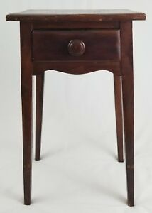 Arts Crafts Mission Wooden Nightstand Candle Stand Table With Drawer Vintage