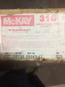 30 Pound Spool Of 316l 045 Stainless Steel Welding Wire By Mckay Weight 26