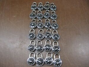 Master Combination Lock Lot School Locker Dial Combination Padlocks With Combos