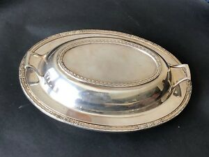 International Silver Co Silver Plate Serving Covered Bowl Lid Camille 6012