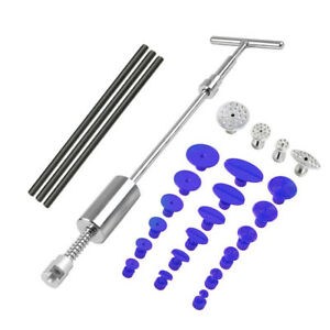 New Paintless Dent Repair Dent Puller Kit Dent Removal Slide Hammer Glue T bar T