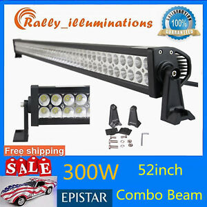 52 inch 300w Led Work Light Bar Spot Flood Combo Driving Lamp Boat Ford Suv Ip67