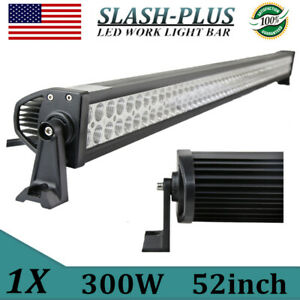 52inch 300w Led Work Light Bar Flood Spot Offroad Suv Tractor 4wd Boat Vs 42 50