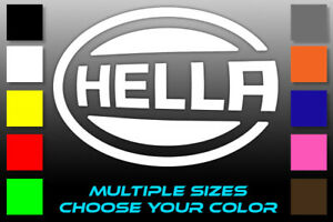 Hella Logo Sticker Lights Off Road