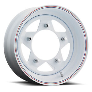 Unique 81 Vw Baja 15x5 5x205 Offset 13 White W Red And Blue Stripes Qty Of 1
