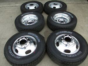 17 Ford F350 Dually Factory Oem Wheels Rims Michelin Tires 10093 10094 10095