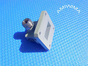Transition Adaptor Waveguide Wr 112 Coaxial N C band Mdl 7 05 To 10 Ghz