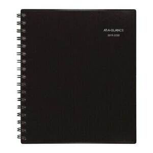 At a glance Notetaker Academic Monthly Planner Black July 2019 To June 2020