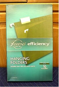 Ampad Hanging File Folders legal Size box Of 10