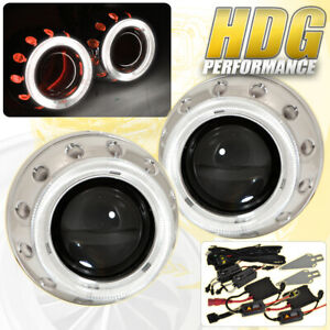 Universal 2 5 Bi Xenon Headlight Projector Retrofit Ccfl Angel Eyes Hid 6000k