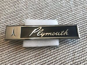 1963 Plymouth Fury Tail Panel plymouth Script Emblem