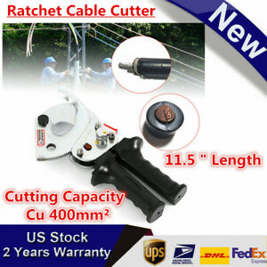 New 400mm 500mm Ratchet Cable Cutter Hand Tool For Cutting Copper