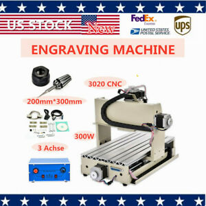 New Cnc3020 Router Engraver Drilling Milling Machine 3 Axis Wood Pcb Cutter