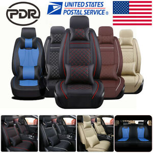 11 Luxury 5 seat Car Seat Cover Universal Suv Front rear Pu Leather Cushion Set
