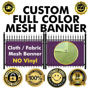 3 X 6 Custom Full Color Fabric cloth Mesh Fence Banner Sign 260 Gsm no Flex