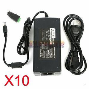 10x Ac100v 240v To Dc 12v 10a Switching Power Supply Adapter For Led Strip Light