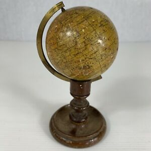Antique Pocket Miniature Terrestrial Globe Smith Son London 2 6 Outline Earth