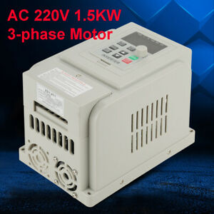 Ac 220v 1 5kw Inverter Motor Drive Vfd Speed Controller Single To 3 Phase