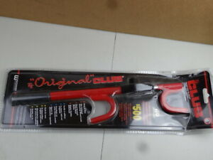 The Club 1000 Original Steering Wheel Lock Anti Theft Device For Cars Red
