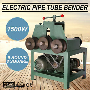 Electric Pipe Tube Bender 9 Round And 8 Square 638lb 290kg Roller Round 110 Volt