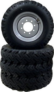 Set Of 4 Skid steer Snow Tires Replaces 10x16 5 12x16 5 Bolt On Ready