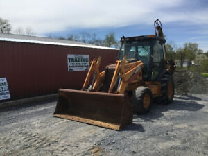 2005 Case 590sm Seres 2 4x4 Tractor Loader Backhoe W Cab Extend a hoe