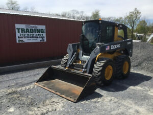 2014 John Deere 328e Skid Steer Loader W Cab 2 Speed High Flow Only 500 Hours