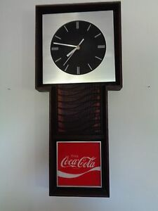 VINTAGE COCA COLA ELECTRIC WALL CLOCK  Mid Century Coka Cola Clock