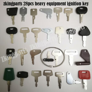 28pcs Heavy Equipment Replacement Key Ignition Key Starter Key For Komatsu Case