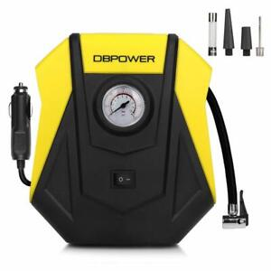 Dbpower 12v Dc Portable Compact Tire Inflator Auto Electric Air Compressor