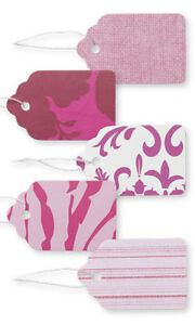 2500 Assorted Pink Paper Price Tags 1 1 16 X 1 String Merchandise Strungtag