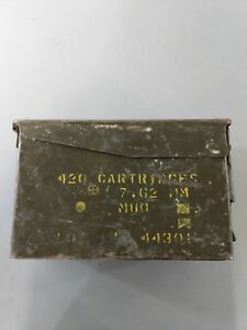 Military Metal Vintage Ammo Box Latch Green 420 Cartridge C14