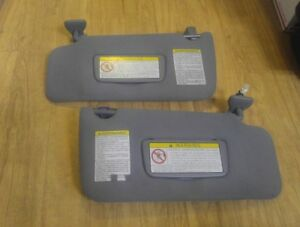 1996 2004 Nissan Pathfinder Oem Factory Dark Grey Sun Visors Left Right Homelink