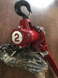 Coffing 2 Ton Lever Chain Hoist Brand New